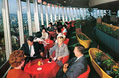 Blue Sky Lounge was as popular as Tokyo Tower.