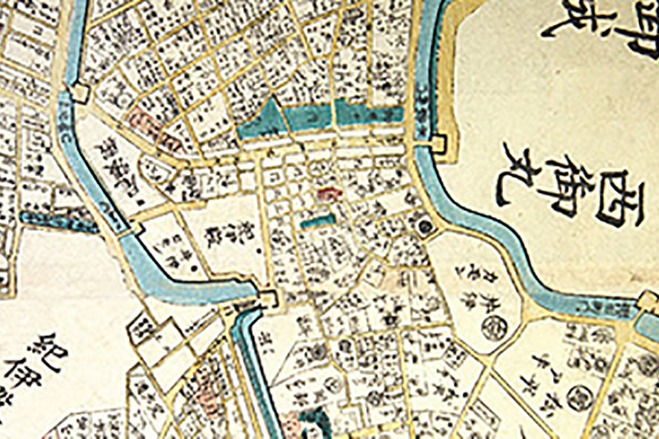 An ancient map of the area in which Hotel New Otani now stands